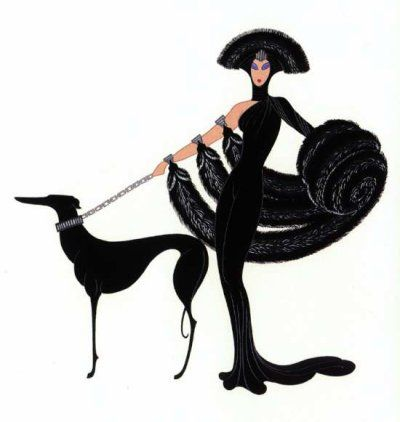SYMPHONY IN BLACK by ERTE